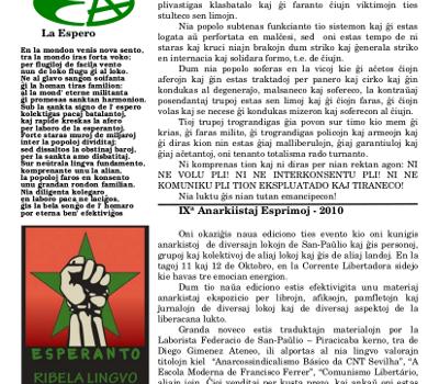 Informa bulteno Anarkio nº 03
