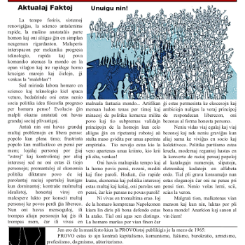 Informa bulteno Anarkio nº 18