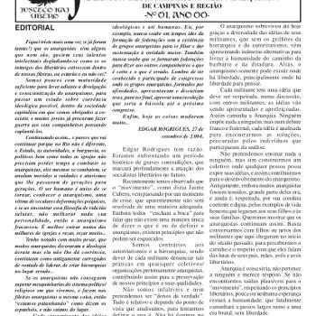 Jornal anarquista Fenikso Nigra nº 01