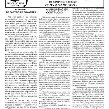 Jornal anarquista Fenikso Nigra nº 03
