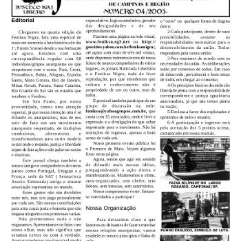 Jornal anarquista Fenikso Nigra nº 05