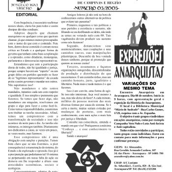 Jornal anarquista Fenikso Nigra nº 06