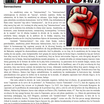 Informa bulteno Anarkio nº 23