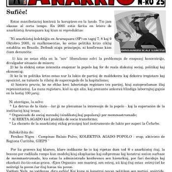 Informa bulteno Anarkio nº 25
